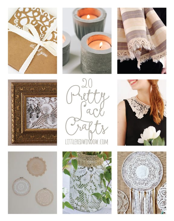 20 Pretty Lace Crafts! | littleredwindow.com