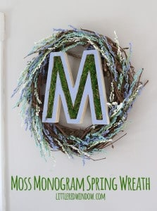 DIY Moss Monogram Spring Wreath! | littleredwindow.com