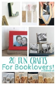 20 Fun Crafts for Book Lovers! | littleredwindow.com