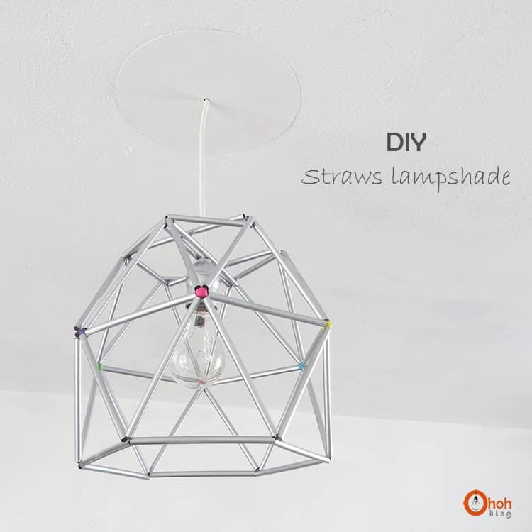 diy wire straw lamp 11
