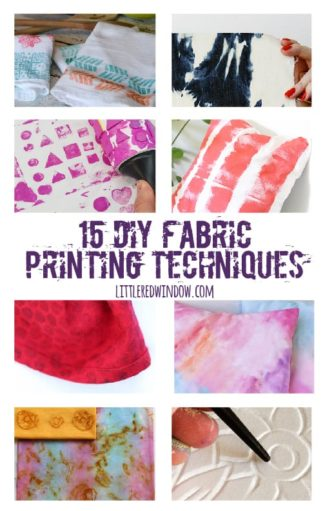 15 DIY Fabric Printing Techniques