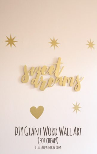 DIY Giant Word Wall Art (for cheap!)