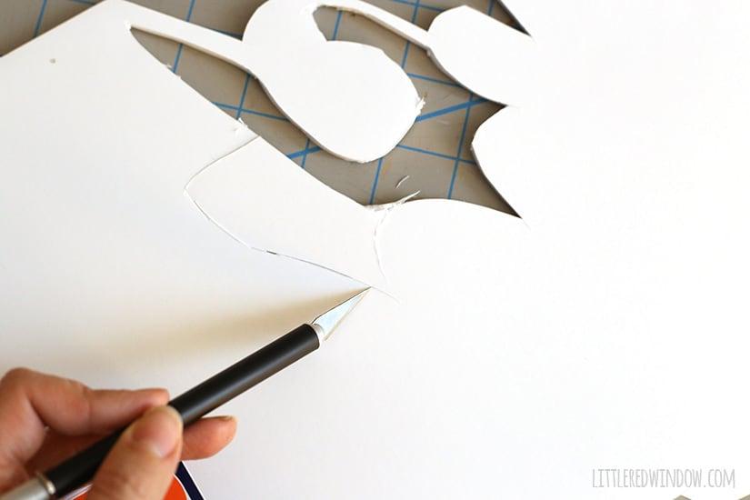 Make your own DIY Gian Word Wall Art (for super cheap!)   littleredwindow.com