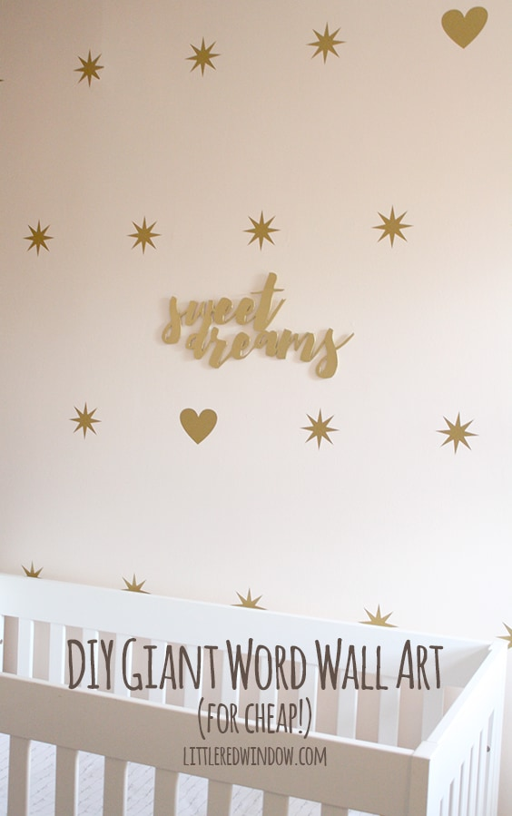 Word On Wall Decor Living Room: DIY Giant Word Wall Art (for Cheap!)