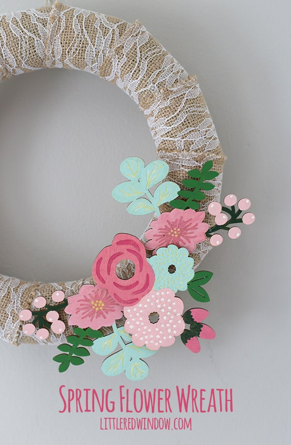 DIY Spring Flower Wreath | littleredwindow.com