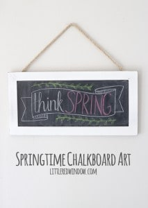 Springtime Chalkboard Art with time lapse video! | littleredwindow.com