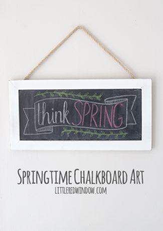 Springtime Chalkboard Art