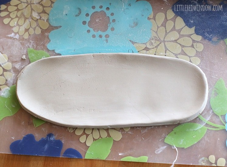 Stamped Clay Trinket Dishes | littleredwindow.com