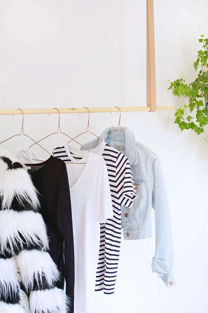 DIY-HANGING-CLOTHES-RAIL