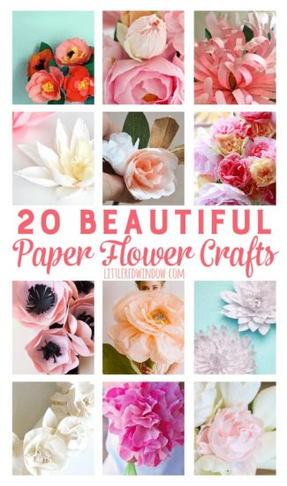 20 Beautiful Paper Flowers and Plants