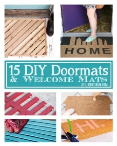 15 Delightful DIY Doormats & Welcome Mats! | littleredwindow.com