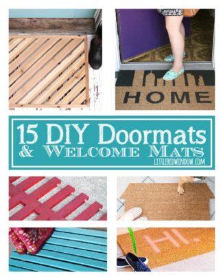 15 DIY Doormats and Welcome Mats!