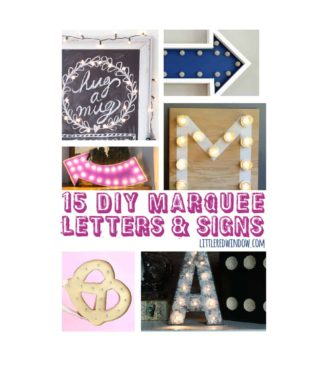 15 DIY Marquee Letters and Signs