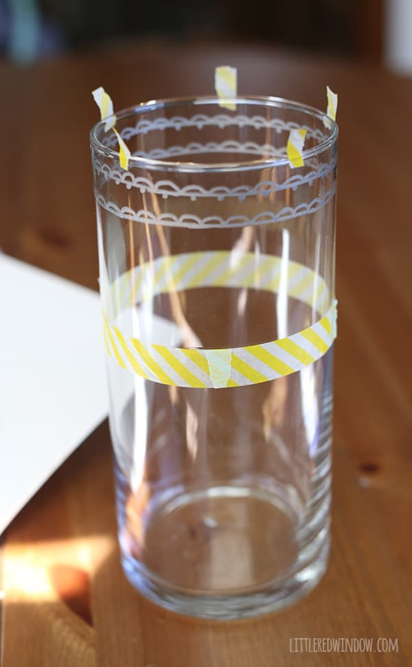 Handpainted Dollar Store Vase, turn a boring vase into a gorgeous metallic Moroccan beauty!   littleredwindow.com