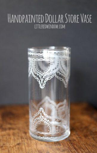 Handpainted Dollar Store Vase