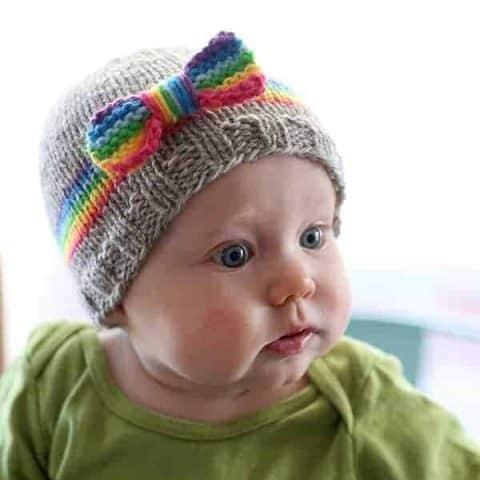 24de79ef9 RainBOW Baby Hat Knitting Pattern - Little Red Window