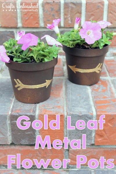 Gold-leaf-DIY-flower-pots