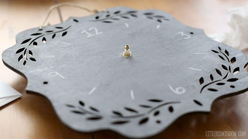 DIY Chalkboard Clock, super simple DIY project! | littleredwindow.com