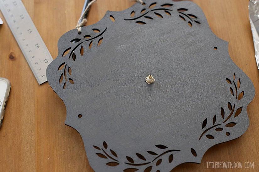 DIY Chalkboard Clock, super simple DIY project!   littleredwindow.com