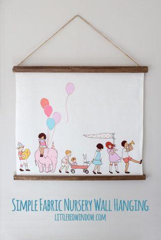 Simple Fabric Nursery Wall Hanging