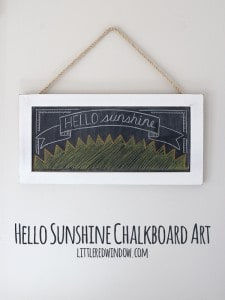 Hello Sunshine Chalkboard Art Time Lapse Video from Little Red Window