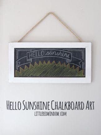 Hello Sunshine Chalkboard Video!
