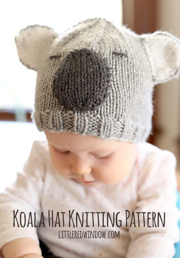 Cuddly Koala Hat Knitting Pattern Little Red Window