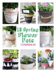 15 DIY Spring Flower Pot Crafts! | littleredwindow.com