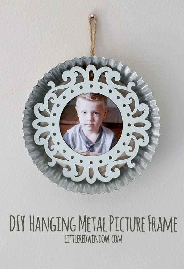 DIY Metal Hanging Picture Frame Tutorial! | littleredwindow.com
