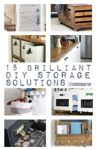 15 Brilliant DIY Storage Solutions! | littleredwindow.com