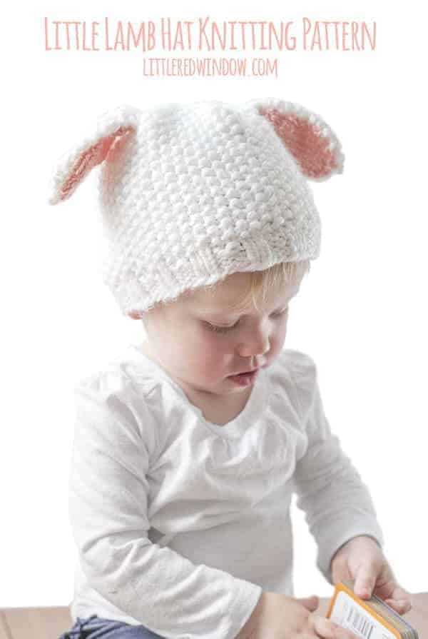 10 cutest free baby hat patterns, here's #3, the LITTLE LAMB HAT!