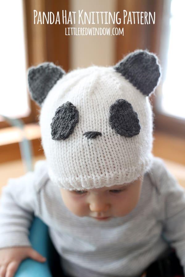 Sweet Panda Hat Free Knitting Pattern! | littleredwindow.com
