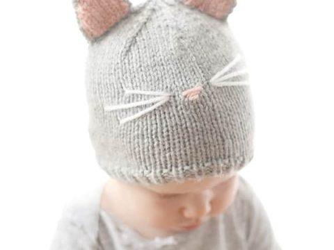 Pretty Kitty Cat Hat Knitting Pattern Little Red Window