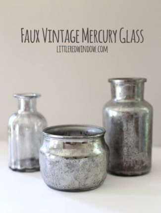 DIY Faux Vintage Mercury Glass