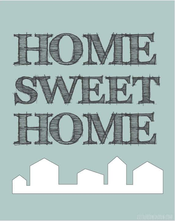 Cute farmhouse home sweet home free printable!