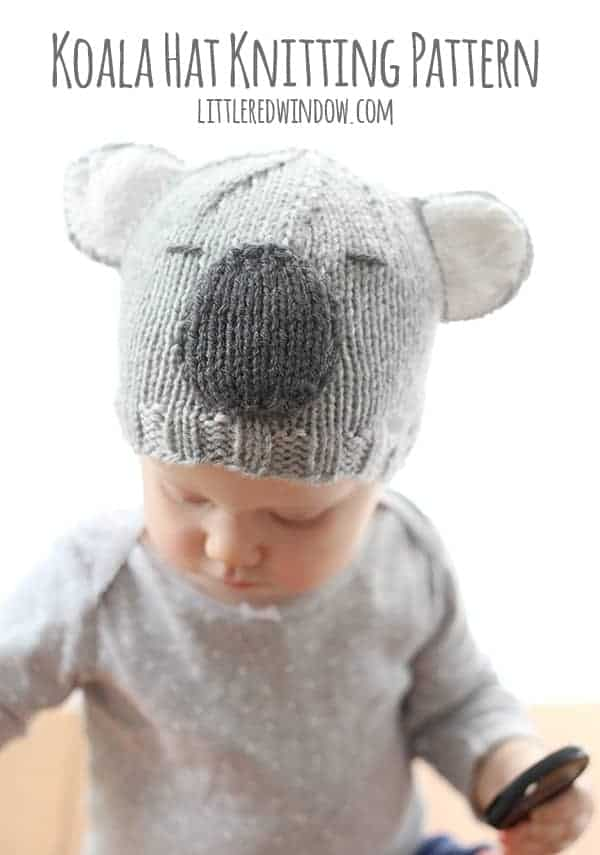 10 cutest free baby hat patterns, here's #7, the CUDDLY KOALA HAT!