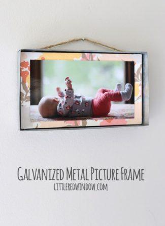 DIY Galvanized Metal Hanging Frame