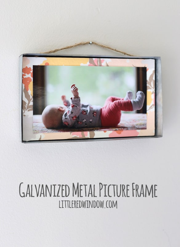 DIY Industrial Galvanized Metal Hanging Frame! | littleredwindow.com