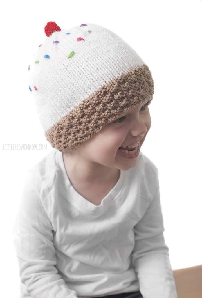 This cutie loves her ice cream cone hat!