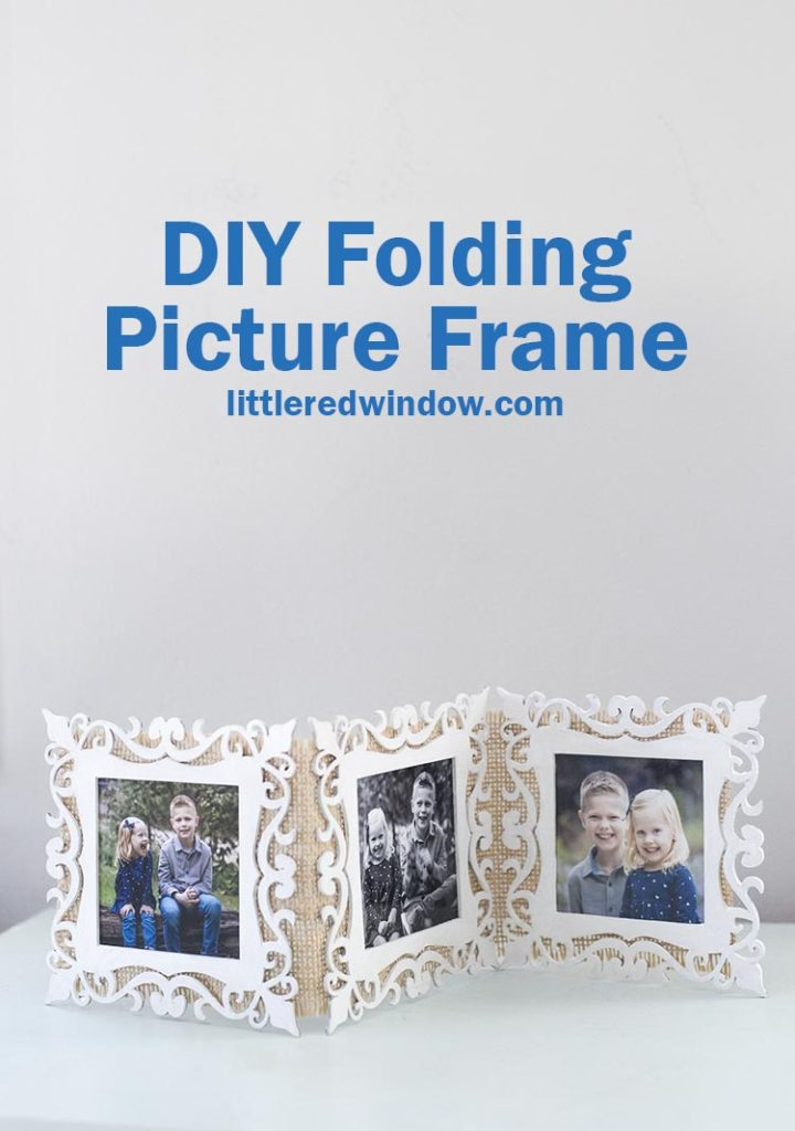 This cute folding picture frame is so quick and easy to make and it makes a GREAT gift!