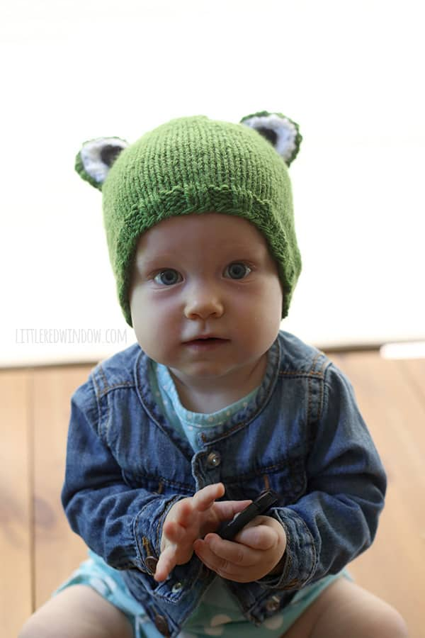Funny Frog Baby Hat Knitting Pattern