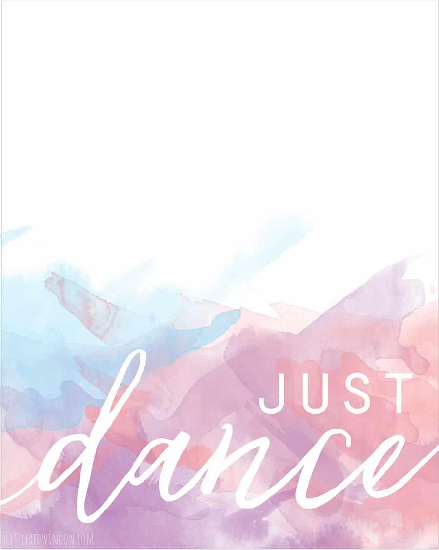 Just Dance Free Printable Print!  | littleredwindow.com