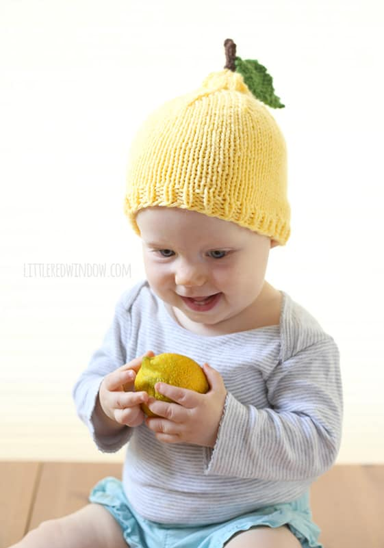 Little Lemon Hat Knitting Pattern Babies
