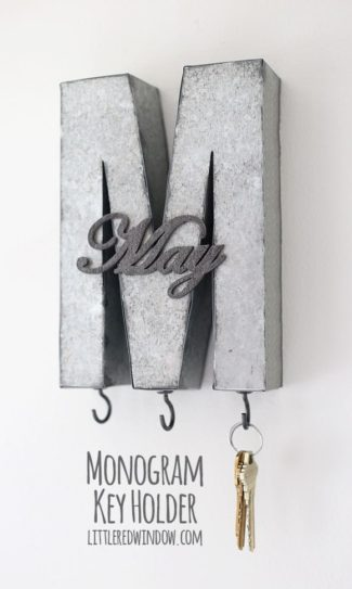 Monogrammed DIY Key Holder