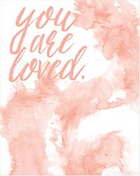 small you are loved printable