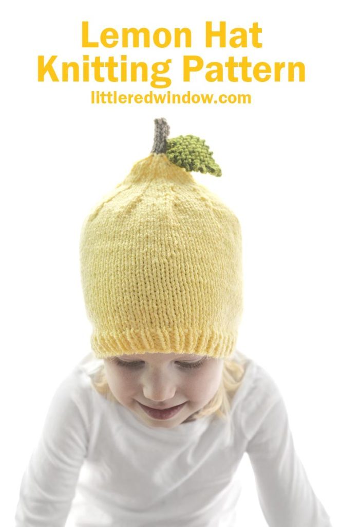 When life gives you lemons, get a copy of the little lemon hat knitting pattern for your baby or toddler!