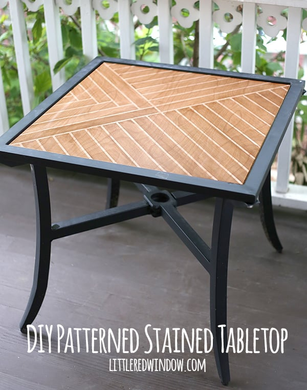 Easy Technique To Stain A Wood Tabletop In This Gorgeous Pattern! |  Littleredwindow.com