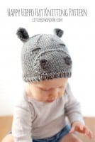 small happy hippo hat knitting pattern littleredwindow