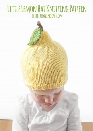 Little Lemon Hat Knitting Pattern