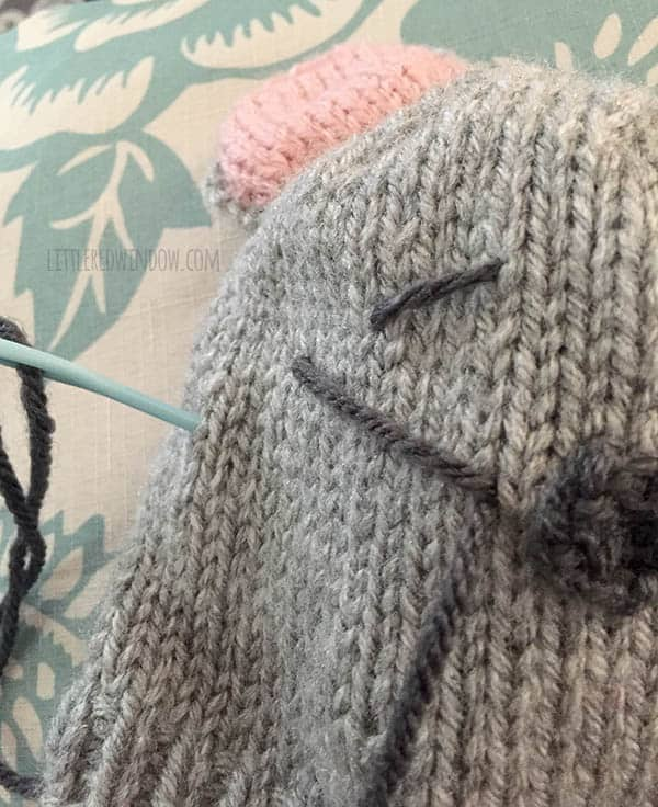 Free Little Mouse Hat Knitting Pattern for babies!   littleredwindow.com